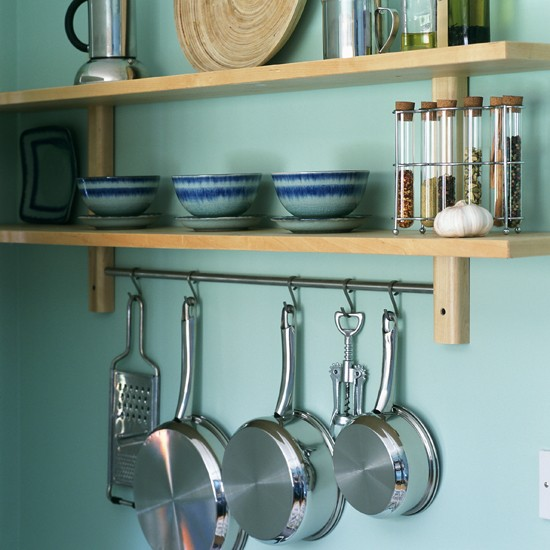 Kitchen Shelves Hanging Rail