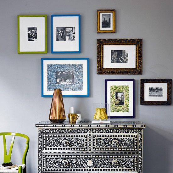 Update inexpensive photo frames | Modern living room design ideas | Living room ideas | PHOTO GALLERY