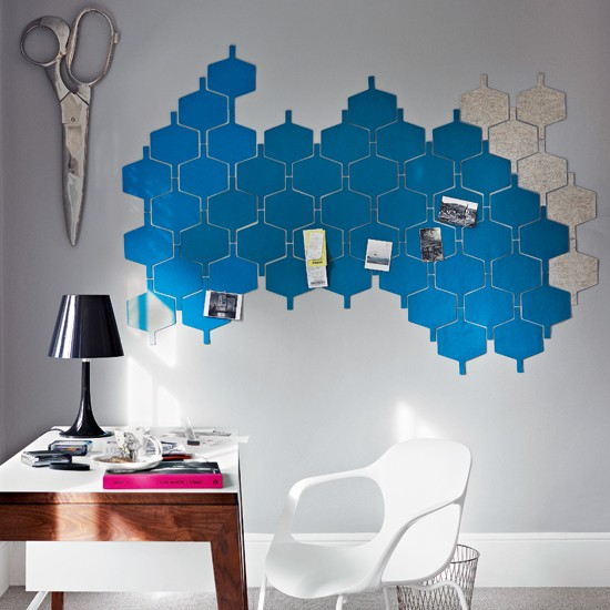 Quirky home office memo board modern home office for Quirky home ideas