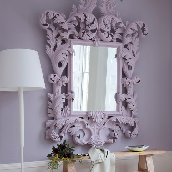 Lilac hallway | Weird and wonderful hallways | Hallway decorating ideas | PHOTO GALLERY