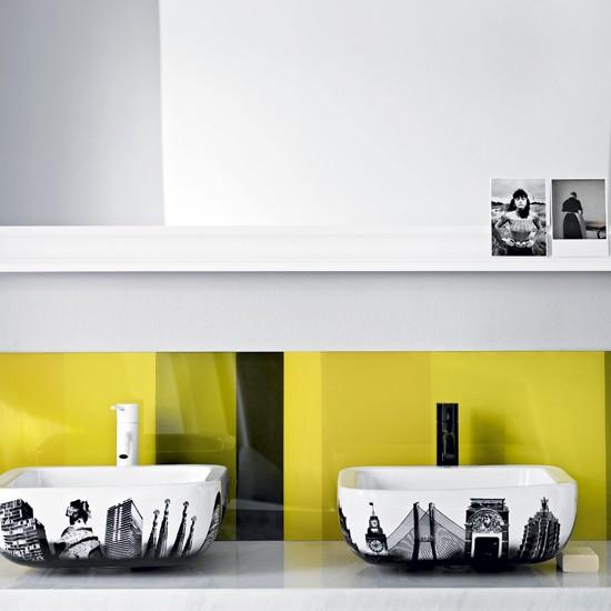 Bathroom with statement basins | Modern bathroom | Basin | Image | Housetohome