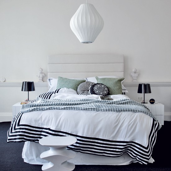 Grecian-style bedroom | White bedroom | Bed | Image | Housetohome