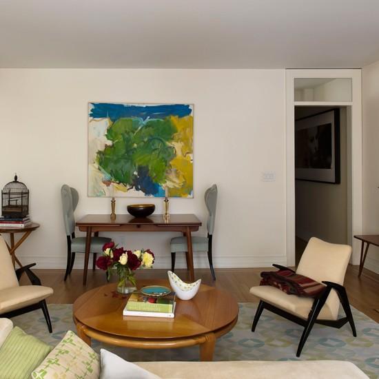 Open Plan Retro Living Room