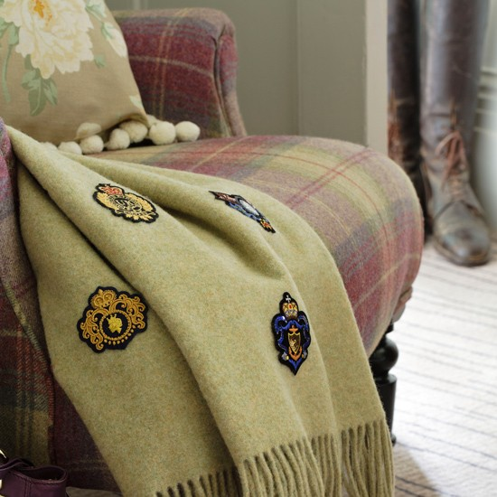 Personalised living room throw | Country living room | Throw | Image | Housetohome