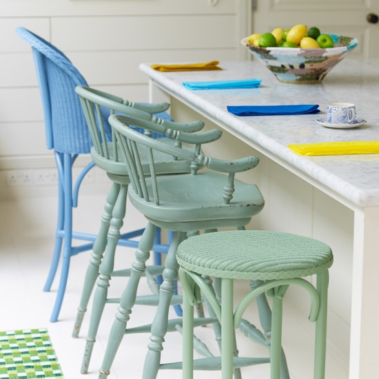 Colourful kitchen bar stools | Modern kitchen | Bar stools | Image | Housetohome