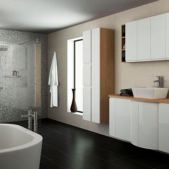 Integrated Handle High Gloss Range From B Q Small Bathroom Design Ideas