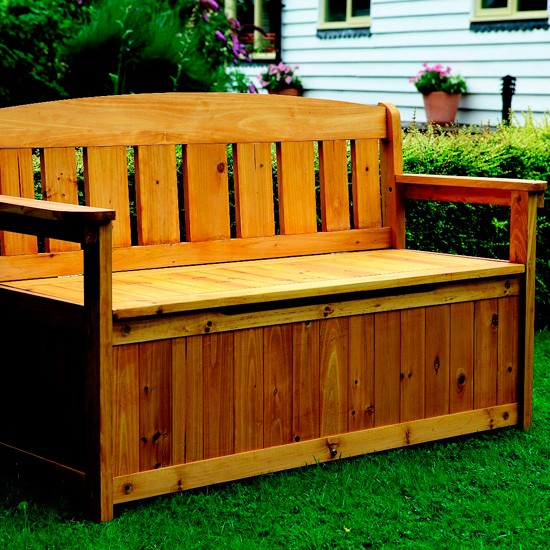 Garden storage bench from Great Little Trading Co. | Garden storage ...