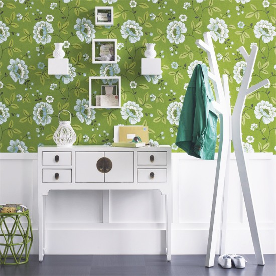 green hallway | how to decorate with greens | colour | PHOTO GALLERY | Housetohome