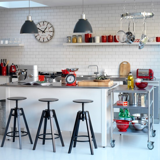 Industrial-chic kitchen | Black and white kitchens - 10 of the
