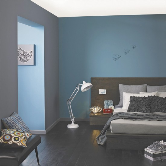 Modern Blue Grey Bedroom 550 x 550