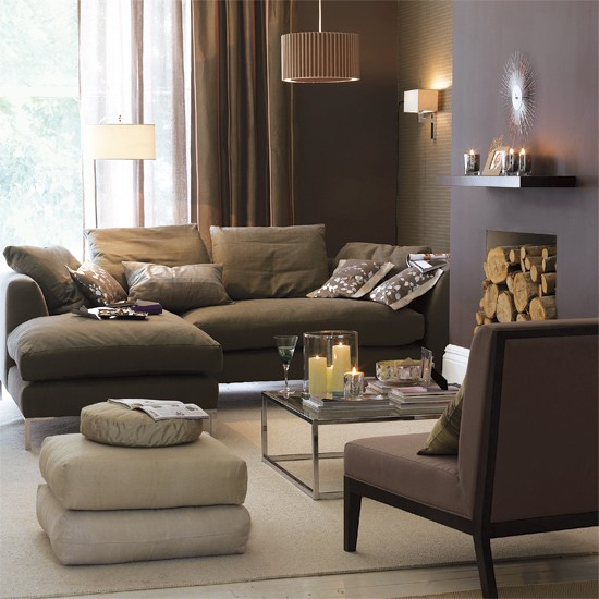 Moody neutrals 5 ways with neutrals for Neutral green living room