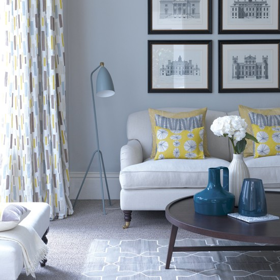 tonal grey living room decorating with a single colour housetohome