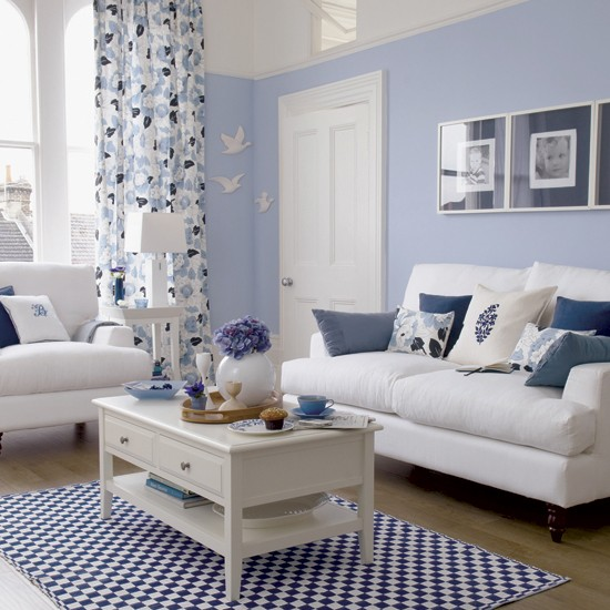 Blue living room | tone-on-tone decorating | tonal schemes | PHOTO GALLERY | Housetohome