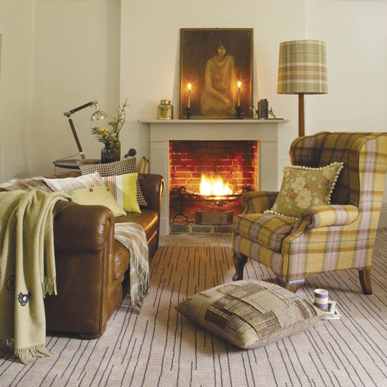 Tonal Tweed Living Room Decorating With A Single Colour