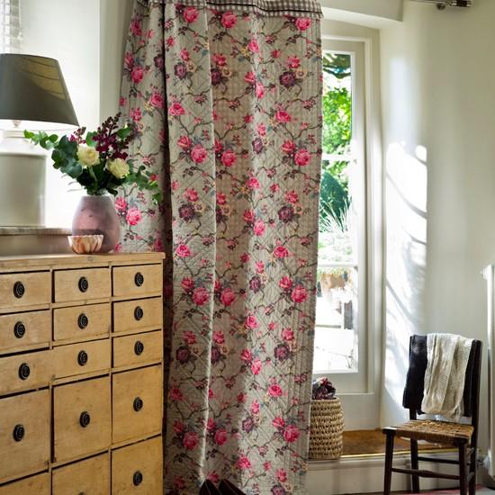 Floral hallway curtain | Country hallway idea | Curtain | Image | Housetohome