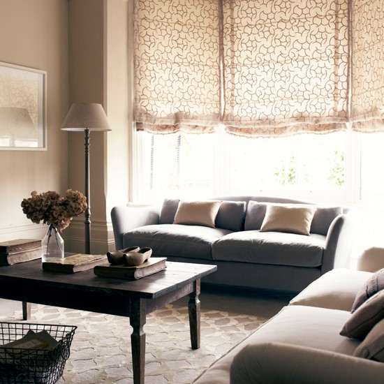 Neutral and calming living room traditional living room for Brown taupe living room