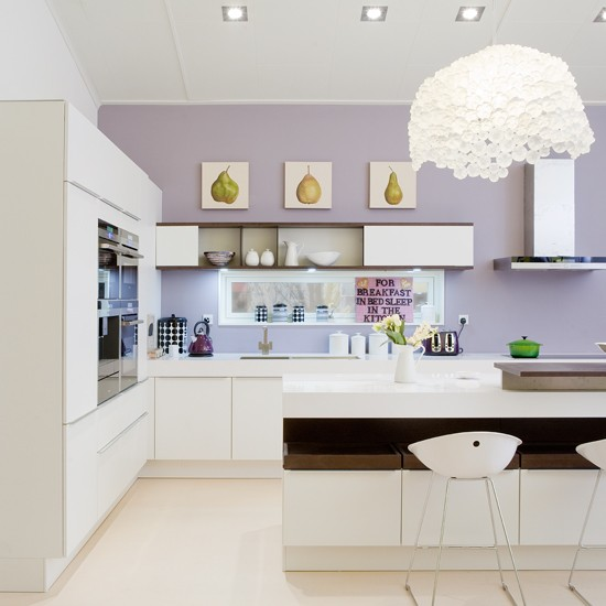 Contemporary chic eco kitchen take a tour around a for Show home kitchen ideas