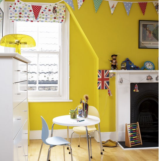 Yellow Playroom Colourful Children S Bedroom Ideas 10