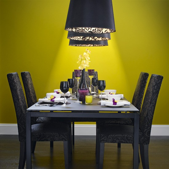 Colourful dining room ideas 10 of the best housetohome for Grey yellow dining room ideas