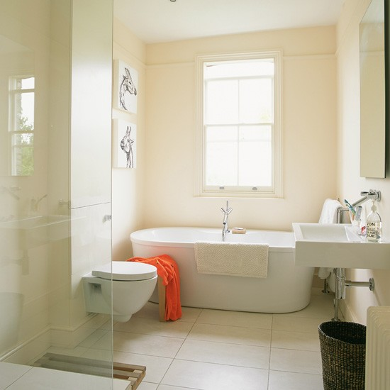 Neutral bathroom take a tour around a victorian house for Victorian bathroom design ideas