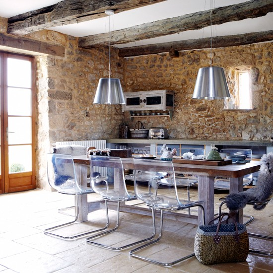 Farmhouse kitchen-diner | Country kitchen | Reclaimed dining table | Image | Housetohome