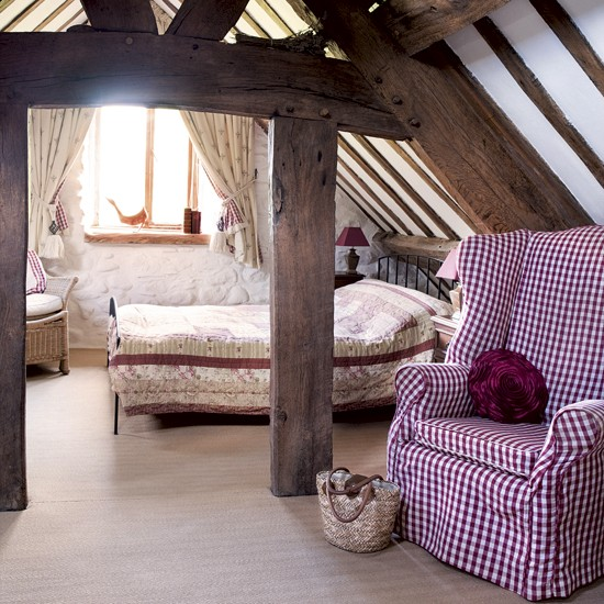 Relaxed attic bedroom | Country bedroom | Bedroom beams | Image | Housetohome