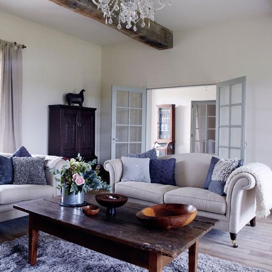 Traditional White Living Room Living Room Idea