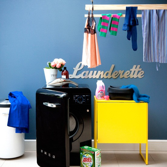 Retro utility room | Adding colour to a utility room | Decorating with colour | PHOTO GALLERY | Housetohome