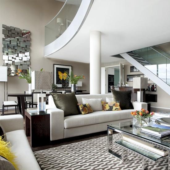 Open plan City Living Room Modern