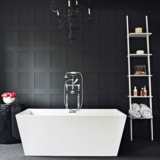 Bathroom Design White And Black : Contemporary black and white bathroom