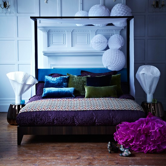 Dramatic bedroom | Modern bedroom | Modern bed | Image | Housetohome