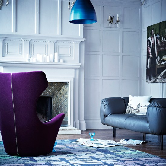 Dramatic Living Room Modern Living Room