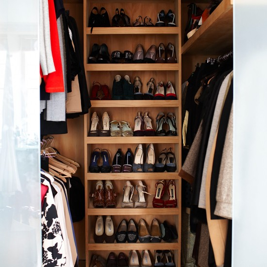 Walk in bedroom storage take a tour around style director paula reed 39 s london home - Types of shoe storage solutions for the bedroom ...
