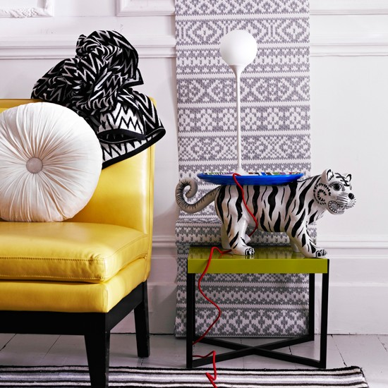 Quirky living room | White living room | Yellow armchair | Image | Housetohome
