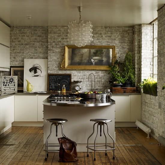 Fabulous Brick Wall Industrial Kitchen 550 x 550 · 87 kB · jpeg