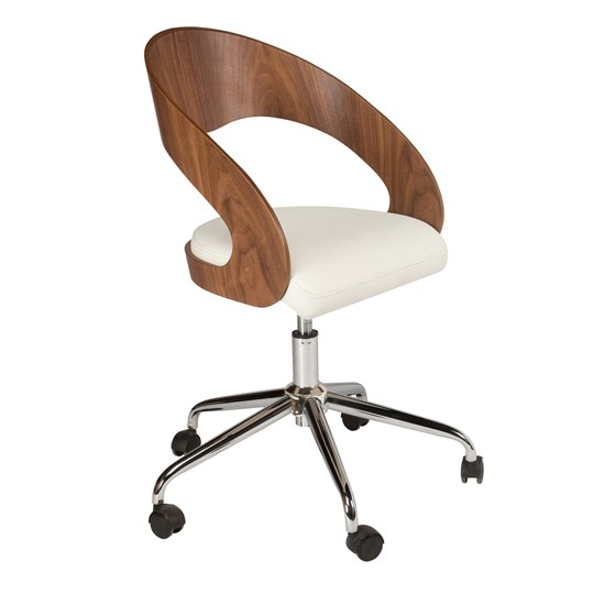 Curved padded office chair from Dwell | best desk chairs | housetohome