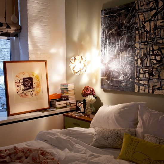 peaceful bedroom new york loft style apartment house