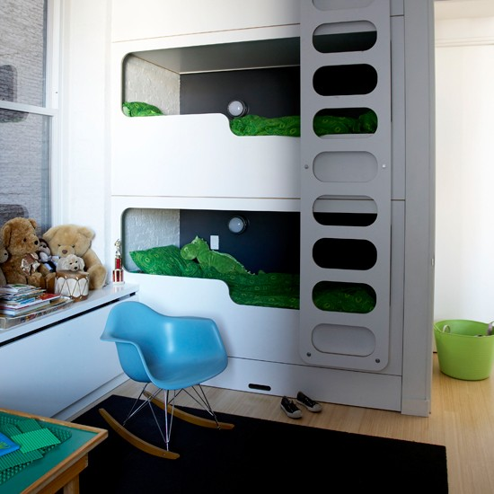 twin boys bedroom new york loft style apartment house