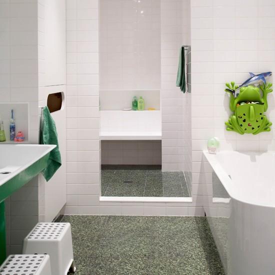 Family bathroom new york loft style apartment house tour for Living etc bathroom ideas