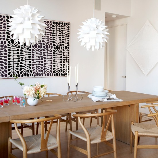 Modern minimalist dining room New York loft style  : New York loft house tour Livingetc dining room from www.housetohome.co.uk size 550 x 550 jpeg 84kB