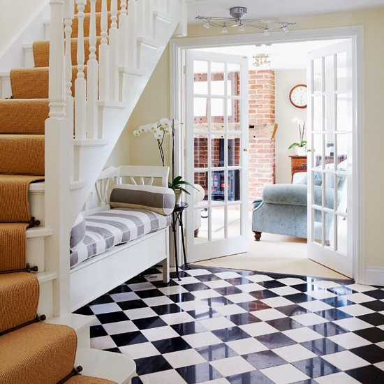 Black and white checks | Flooring ideas for hallways - 10 of the ...