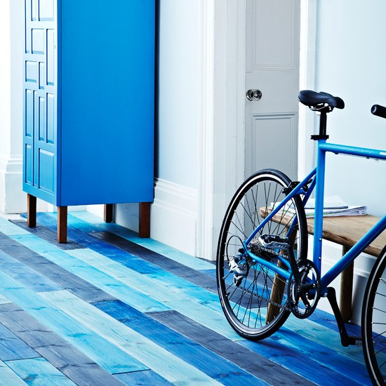 Blue stained floorboards | flooring ideas for hallways | stylish hallway ideas | PHOTO GALLERY | housetohome