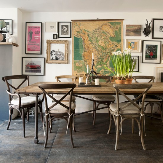 Personalised family dining room | Dining room design idea | Wooden dining table | Image | Housetohome