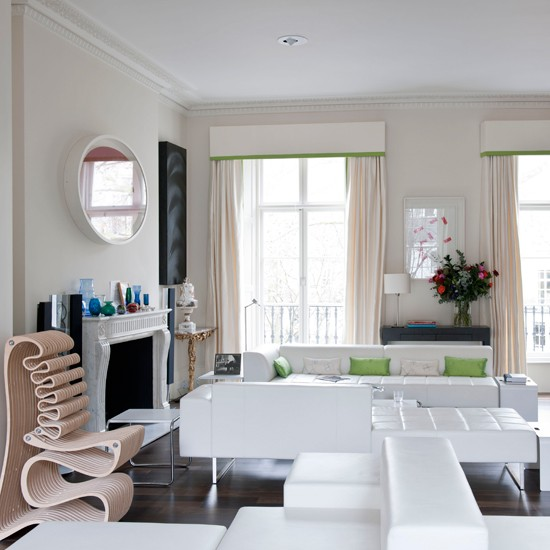 Modern white living room | Contemporary living room | Statment chairs | Image | Housetohome