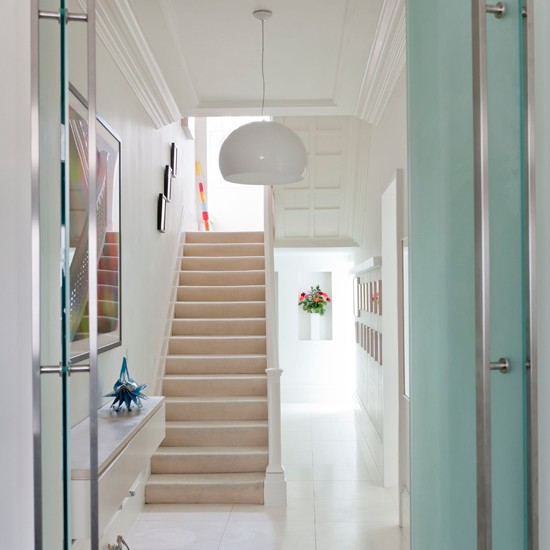 Clean White Hallway Modern Housetohomecouk