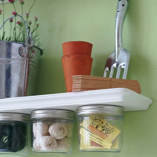 Recycled storage jars | country style utility rooms | utility room ideas | laundry room ideas | housetohome