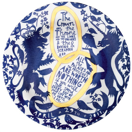 To Love and Companionship by Rob Ryan | Royal Wedding plates | Royal Wedding 2010 | Royal Wedding memorabilia | Livingetc Royal Wedding plate auction | PHOTO GALLERY | Housetohome