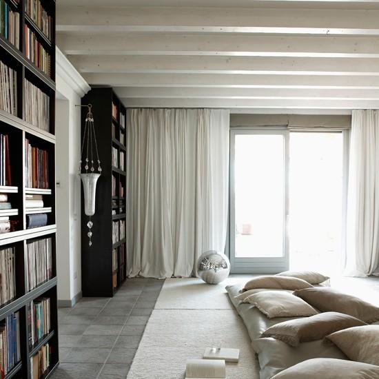 Living room window | Slick attic apartment house tour