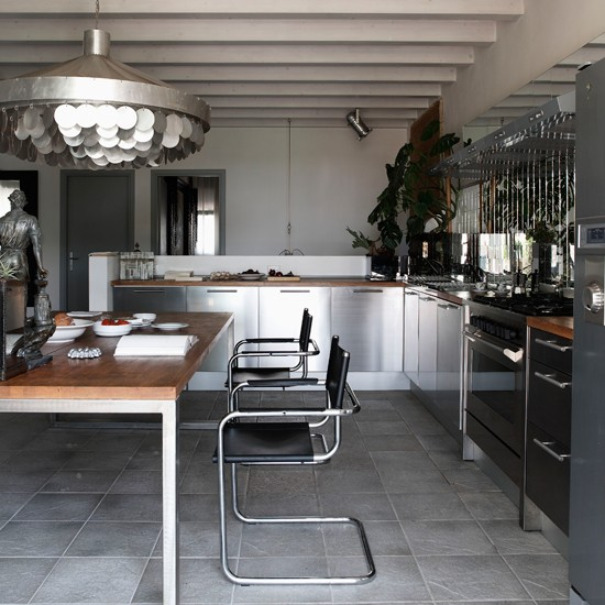 Kitchen | Slick attic apartment house tour