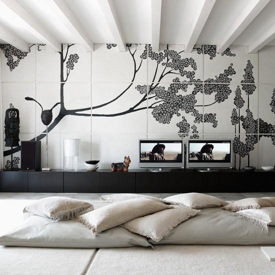 Living room | Slick attic apartment house tour